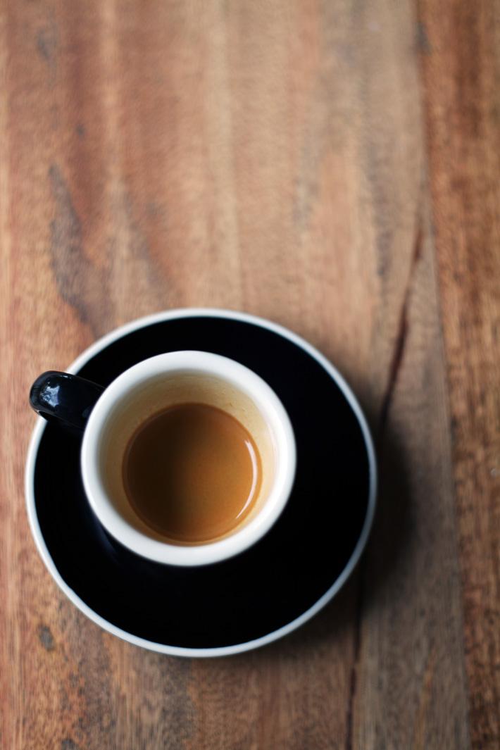 Menggunakan kopi Bali Kintamani yang di roast oleh Faruk Fahrany dari San9a.
